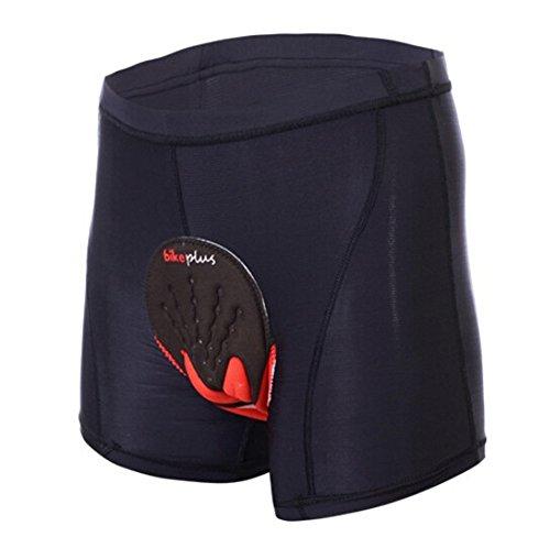 ALLY Fahrradhose mit 3D COOLMAX Sitzpolster Herren Radfahren Fahrrad Unterwäsche Shorts (L)